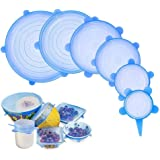 Tapas elásticas de silicona, envoltura plástica reutilizable alternativa para cubetas y recipientes de almacenamiento, elásti