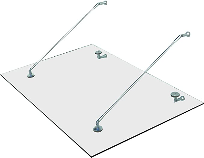 150 x 90 cm Glasvordach Grauglas Vordach T/ürvordach T/ürdach Haust/ür Anthrazit Glas Edelstahl VSG
