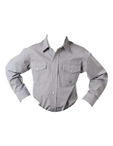 8d09bb72 Amazon.com: Roper Snap Boys Grey 100% Cotton Mini Checks L/S Shirt ...