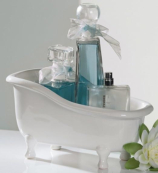 Badezimmer Dekoration Keramik Badewanne Wanne Behalter Amazon De