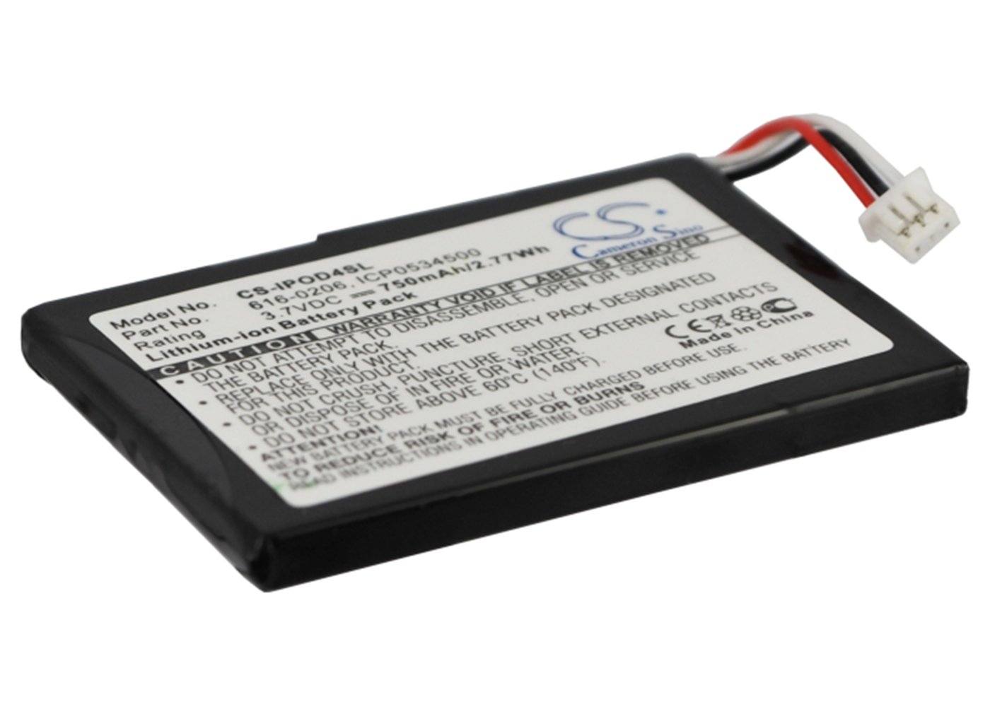 VINTRONS 750mAh Battery for Apple 616-0183, 616-0206, 616-0215, AW4701218074, ICP0534500,