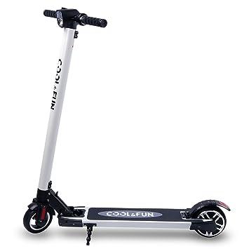 CooL&Fun Trottinette électrique Scooter Patinete eléctrico Plegable 250W 20KM / H,Unisex Adulto,con Batería de LG, Unisex Adulto