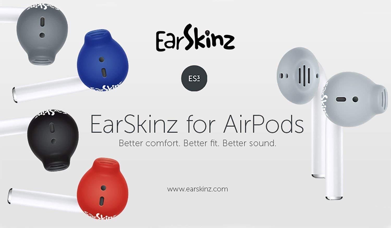 - Rojo ES3 para AirPods EarSkinz AirPods Cubiertas