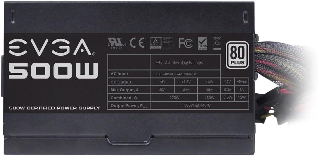 Evga 500 Watt 80 Plus Power Supply Unit 100-W1-0500-Kr