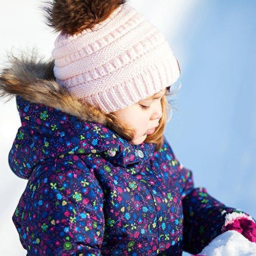 703d00dbd924c FURTALK Kids Girls Boys Winter Knit Beanie Hats Faux Fur Pom Pom Hat Bobble  Ski Cap