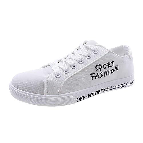 uirend Zapatos Hombre Aire Libre y Deportes Skateboarding - Chicos Calle Moda Lienzo Cordones Zapatillas Transpirable Alpargatas: Amazon.es: Zapatos y ...