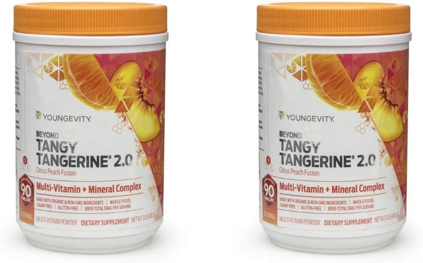 Beyond Tangy Tangerine 2.0 CITRUS PEACH FUSION – 450 G CANISTER – 2 Pack