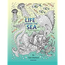 Life Under The Sea: Right Handed Coloring Book