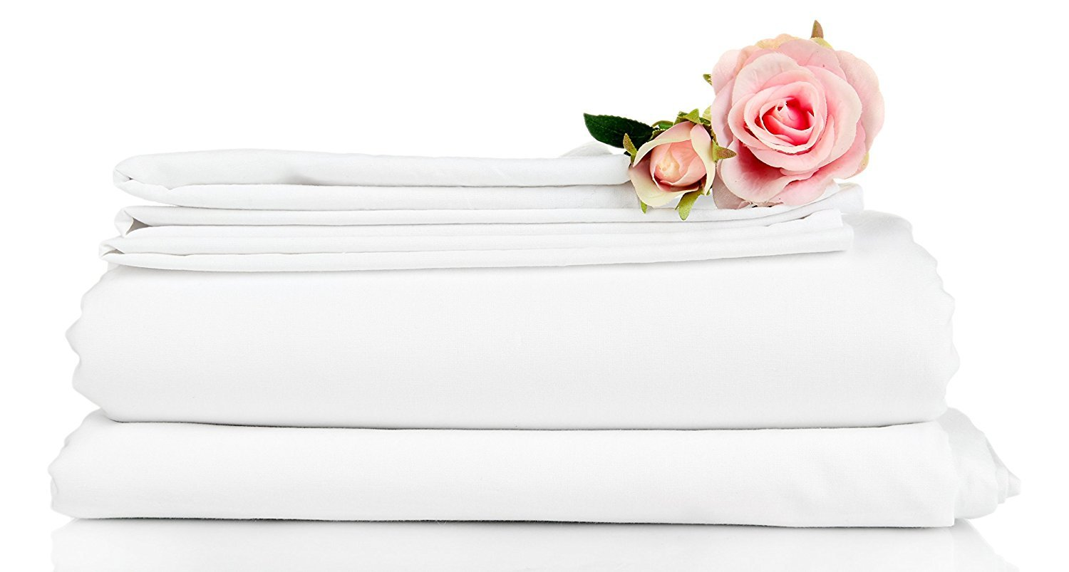 Atlas 6-Pack King Size Pillow Cases Covers - White Hotel Percale