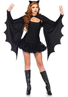 BN outfit with bat wings and bat wand fancy dress party one size