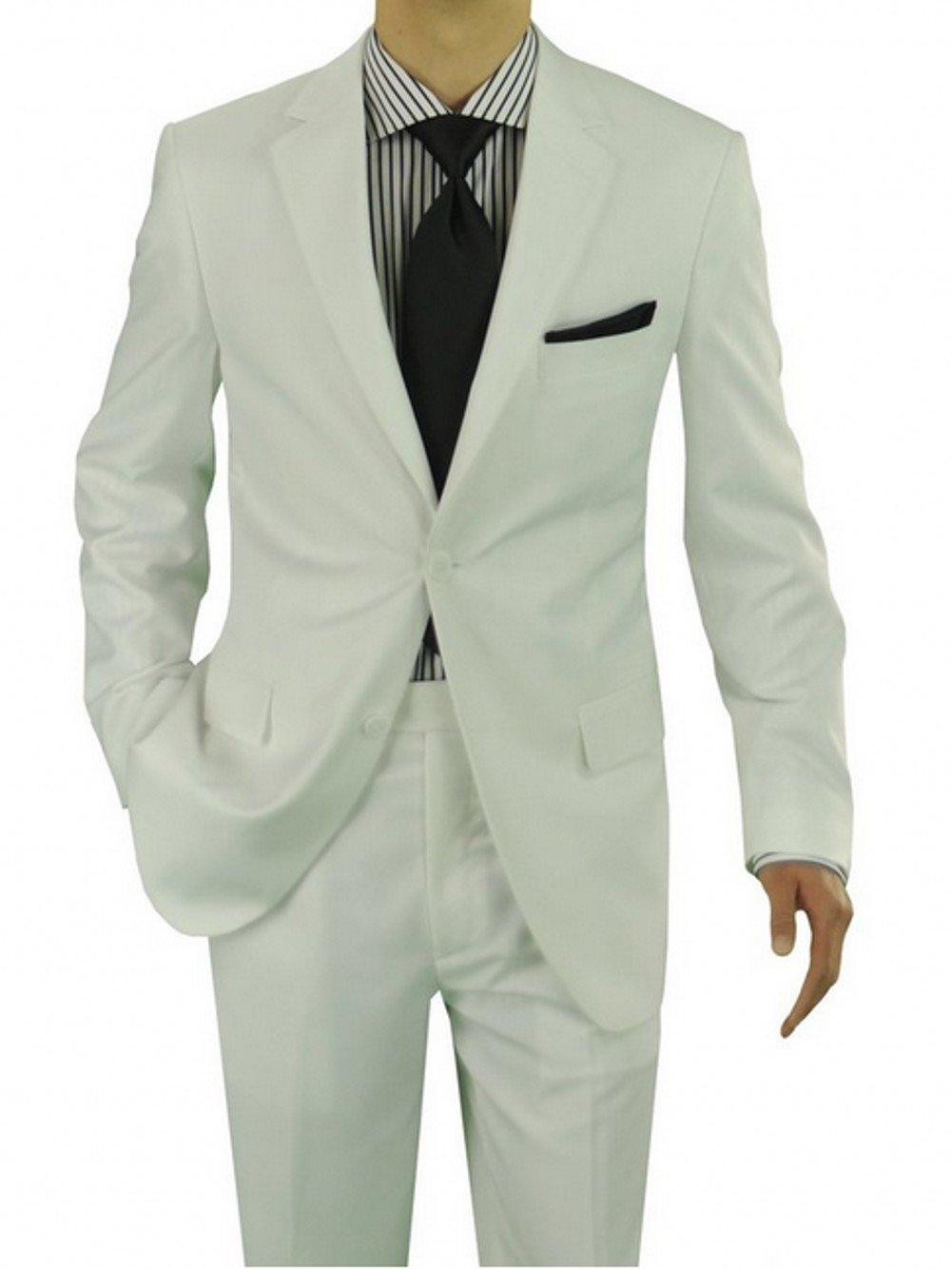 Love Dress Men's Two Button Suit White Two Piece (Jacket and Pant) XXXXXXL