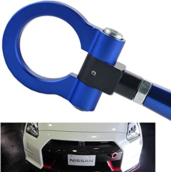 Made of Lightweight Aluminum iJDMTOY Red Track Racing Style Tow Hook Ring For 2003-2004 Nissan 350Z Z33 Fairlady Z