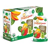 Happy Baby Organic Stage 2 Baby Food, Simple Combos, Spinach Mangos & Pears, 4 Ounce (Pack of 16)