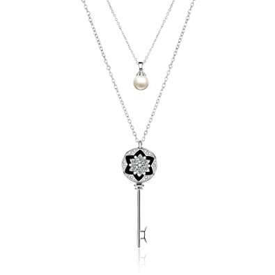 cb591e50d Barbie Hochwartige Tiffany Key Necklace Diamante and Crystal for Women's #  BSXL061.01 A: Amazon.co.uk: Jewellery