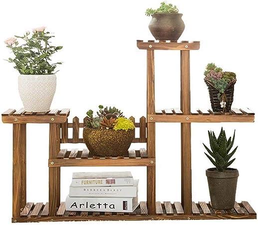 Estante Estante de flores Soportes for plantas Estantes de exhibición de madera Decoración de jardín Estante de flores Estanterías de madera de varios pisos Estante de piso for interiores y exteriores: Amazon.es: