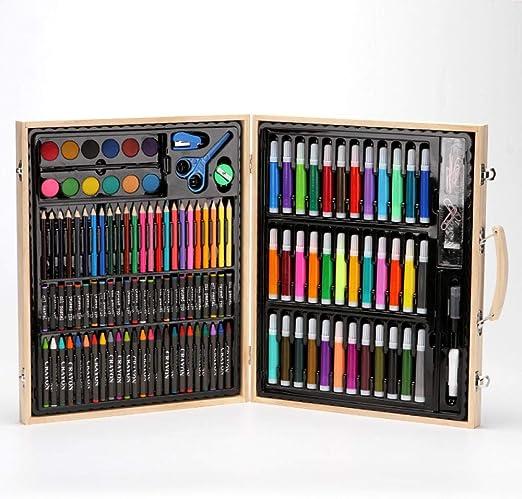 Arte Pintura Crayones Acuarela,Caja de Madera de 150 niños Que ...