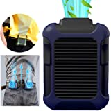 SANTITY Clip On Waist Fan Hands Free Neck Fan Portable Mobile Air Mini USB Personal Rechargeable Sports Wearable Lanyard Fan Cooler 3 Speed Adjustable for Outdoor Indoor Office