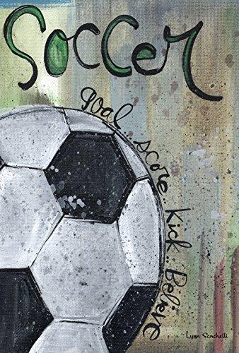 Toland Home Garden Soccer Score Decorative Sport/Game Garden Flag, 12.5