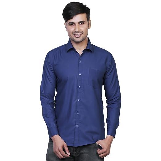 ab70aa118751 Variksh Dark Blue Color Cotton Casual Slim fit Shirt for men s Casual Shirts