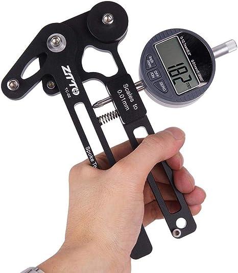 Misuratore di tensione bicicletta ha parlato ruota raggi Checker TENSIONE metro misurazione thfj $