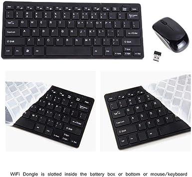 CubePlug Mini Teclado inalámbrico y ratón Combo Multimedia 2.4 GHz Mouse inalámbrico para Acer DELL Lenovo HP PC computadora portátil, Samsung Smart TV, Frambuesa (Negro): Amazon.es: Electrónica