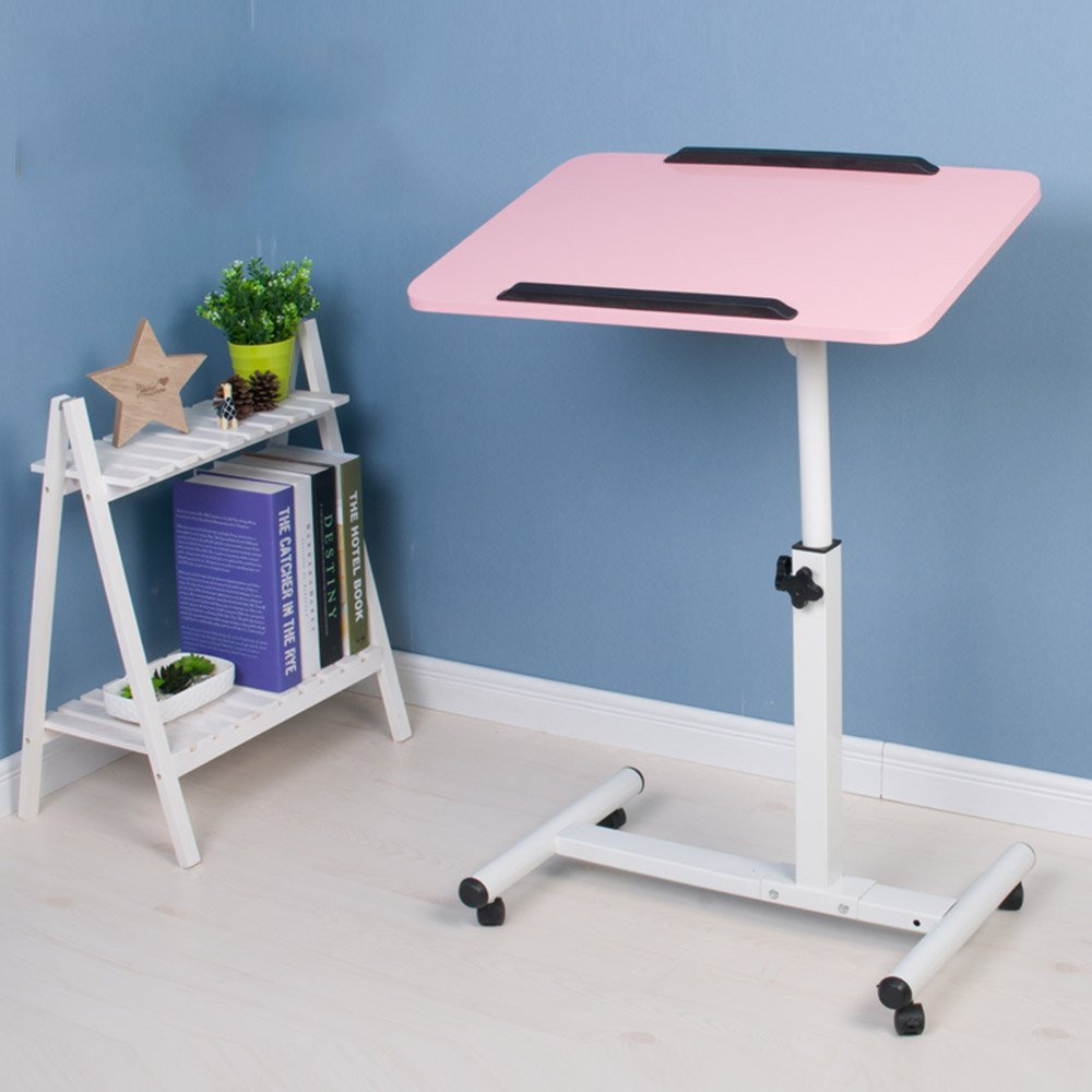 ZZHF Table pliante paresseux bureau d'ordinateur portable lit de ménage petit bureau 8 couleurs en option 57 * 62cm
