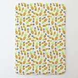 Carousel Designs Golden Pineapples Toddler Bed Comforter