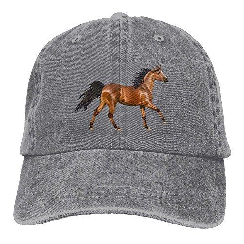 Arsmt 3D Horse Denim Hat Adjustable Women Plain Baseball Hat