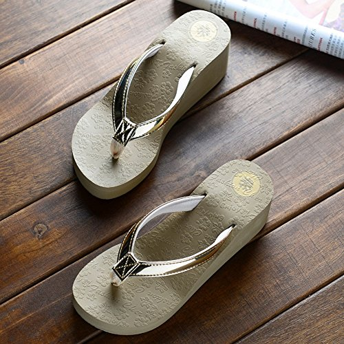 Sandals Summer Fashion Female Beach Shoes Anti-slip Thick White Black Brown Stylish/comfortable (Color : White, Size : EU38/UK5.5/CN38) Brown