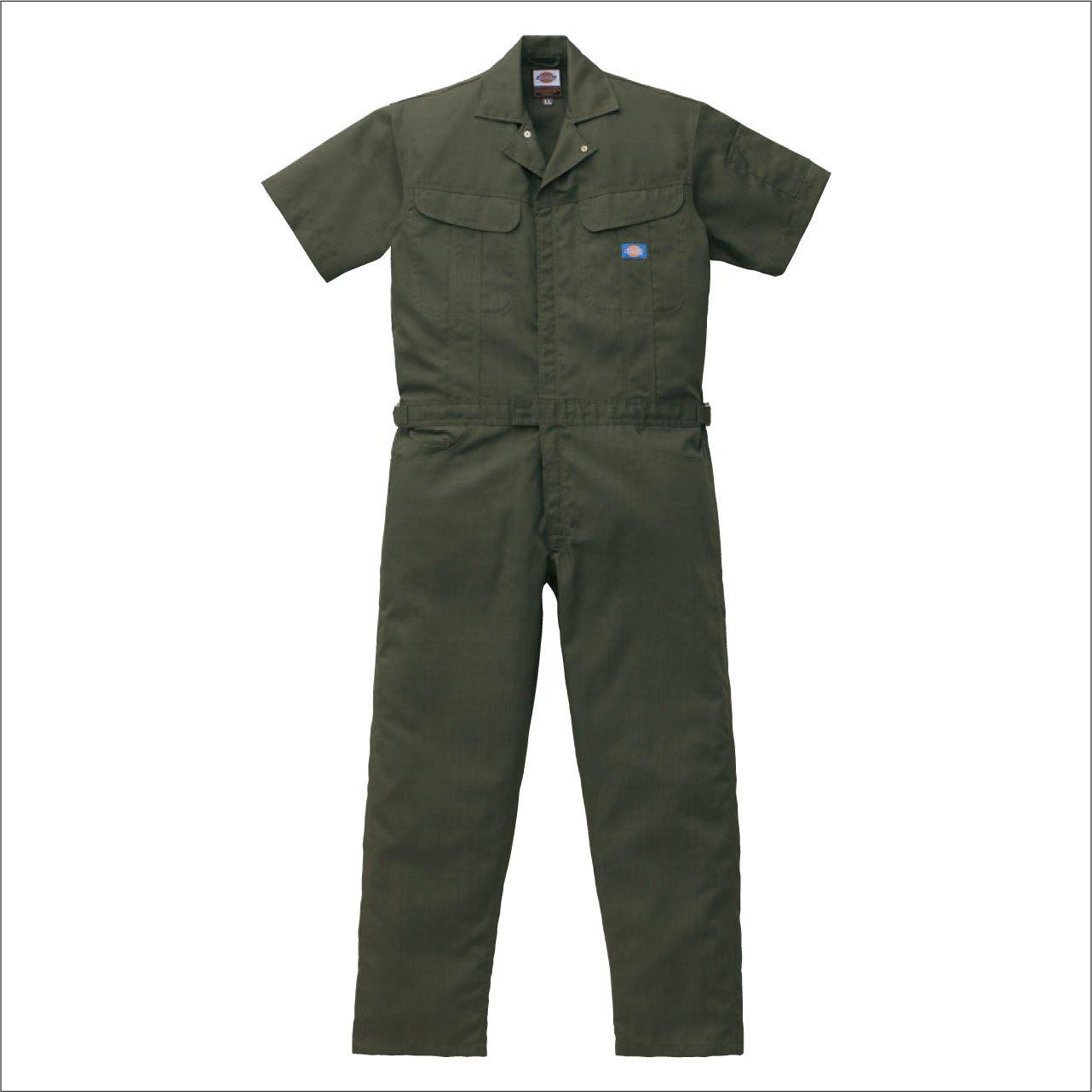 (ディッキーズ) Dickies ブッチャー織り半袖つなぎ Dickies-1111 B008FTVU4S M|オーディ