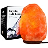 Unilamp Himalayan Salt Lamp, Natural Himalayan Crystal Salt Light with 3 Bulbs, Salt Rock Lamp Hand Carved Salt Light with UL-Approved for Air Purifying, Lighting and Decoration(10 inch, 7-11 lb)