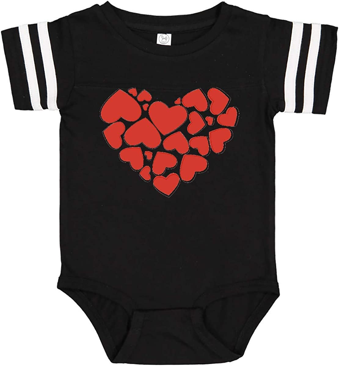 Romance Valentine Hearts Red Infant Creeper inktastic Love
