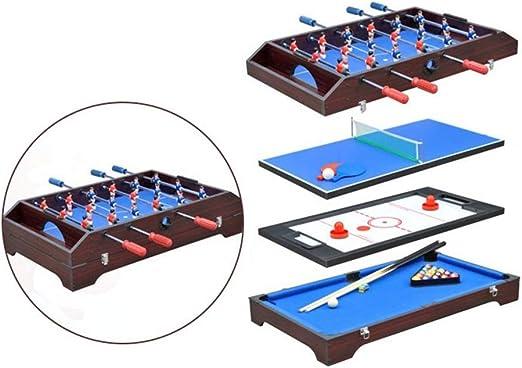 LCRACK 4 En 1 Multi Combo Sport Table, Máquina De La Diversión Durable Operación Fácil Campo De Billar, Campo De Fútbol, Hockey sobre Hielo, Ping Pong: Amazon.es: Hogar