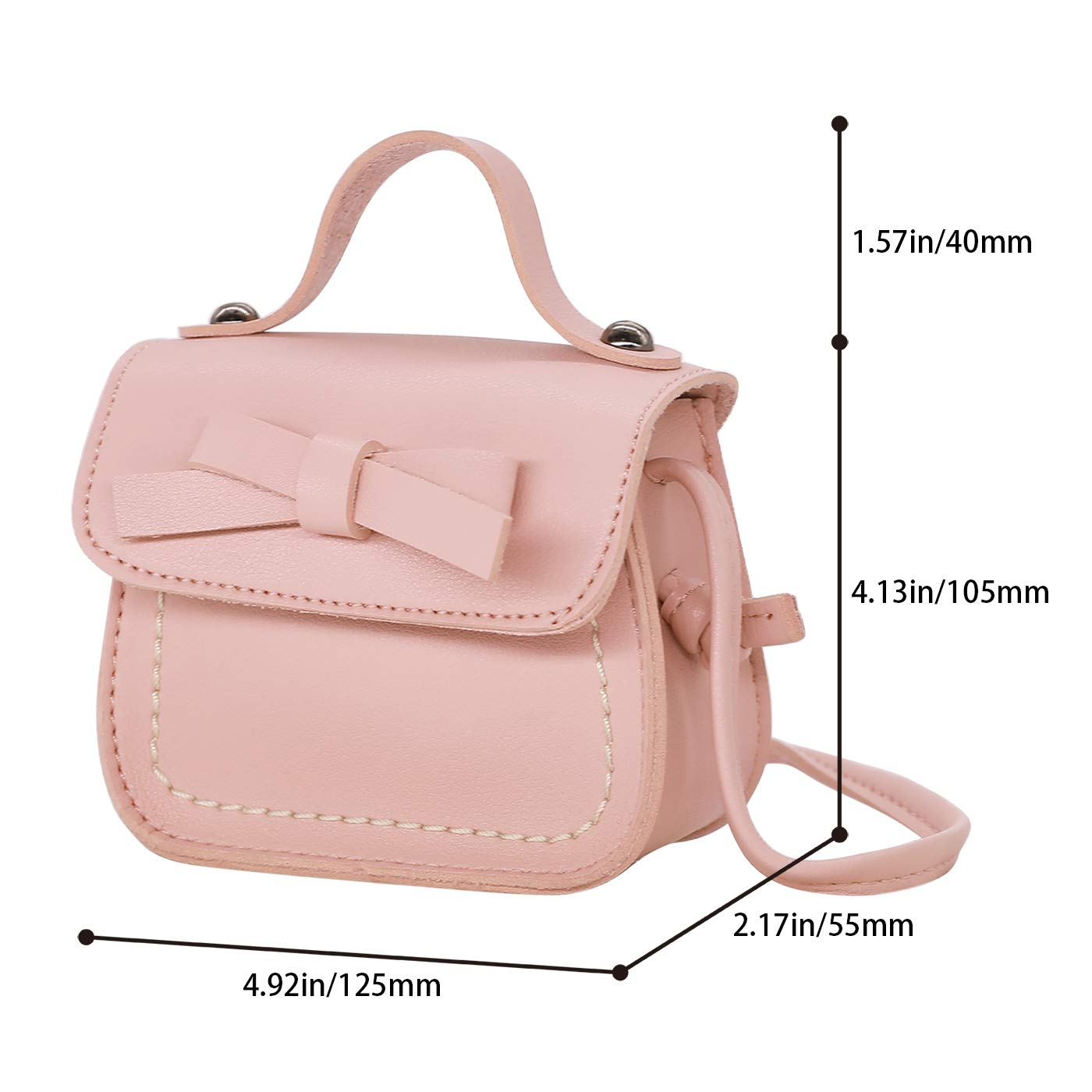 Amazon.com: HDE Small Fashion Purse for Little Girls Light Pink Toddler Kids Bag Cute Bow (Pink): Clothing