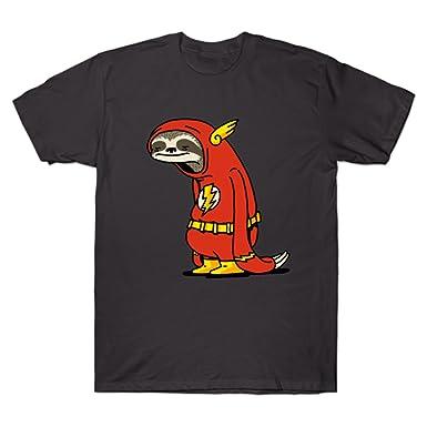 4f73b4c35 GUOHENG Men's Funny Sloth Shirt Flash The Neutral Funny Tshirt Asphalt Small