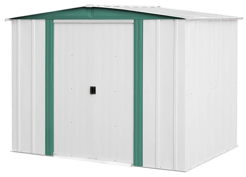 Arrow Sheds HM86 Hamlet Cubierta de almacenamiento de acero, 8 por 6 pies (2, 43 x 1, 82 metros): Amazon.es: Jardín