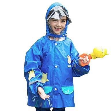 df77a02e8 TRIWONDER Impermeable Rain Gear para Niñas, Niños, Kids Poncho Rain Jacket  con Mochila para 3-12 Años de Edad: Amazon.es: Deportes y aire libre