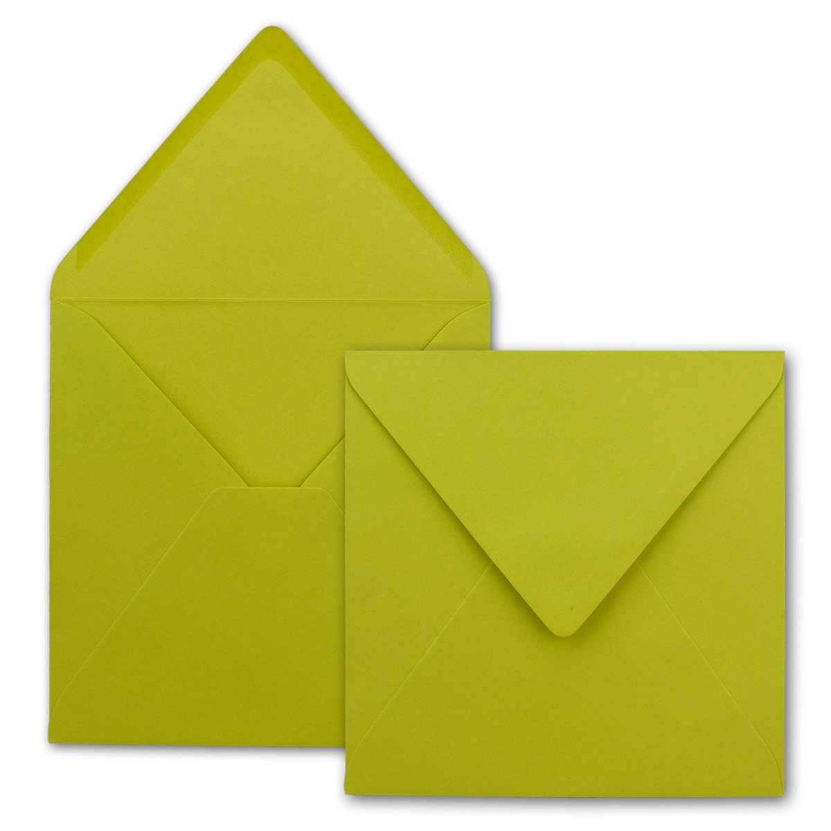 Quadratische Brief-Umschläge - Farbe Hochweiss   150 Stück   155 x 155 mm   Nassklebung   Für Einladungen & Hochzeit    Serie FarbenFroh® B00J9H9OKM   Schöne Kunst