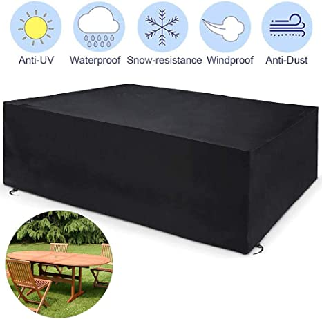 April Story Furniture Covers Waterproof Garden Furniture Covers Anti Uv Patio Circular Table Cover Rectangular Outdoor Heavy Duty 420d Patio Set Covers Amazon Co Uk Sports Outdoors