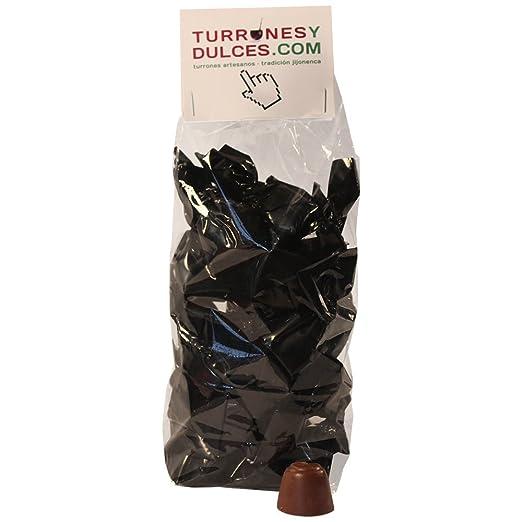 Bombones de CHOCOLATE rellenos de TURRÓN BLANDO, de Jijona con denominación de origen, 800 gramos. ARTESANOS y originales. Ideales para regalar.