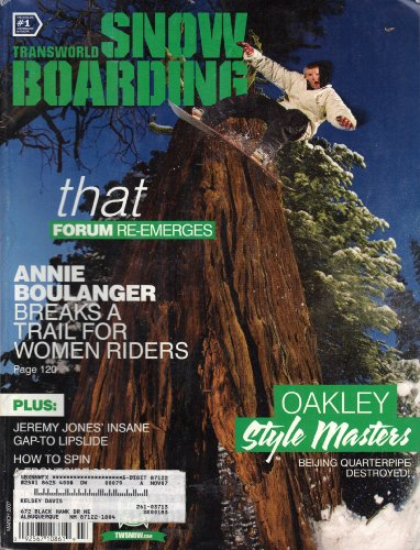 - Transworld Snowboarding (March 2007, Volume 20, Issue 7)