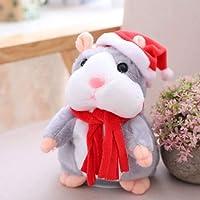 Klinkamz Cheeky Hamster Electric Talking Walking Pet Christmas Toy Speak Record Hamster Gift