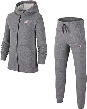 Nike B NSW Core BF TRK Suit Chándal, Niños, Carbon Heather/Dark ...