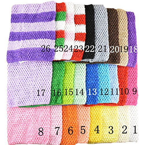 920f2ba016 Baby Girl Crochet Tutu Tube Tops Chest Wrap Wide Crochet Headbands (9  inches) - Buy Online in Oman.