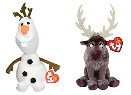 3edb897fac2 Image Unavailable. Image not available for. Color  Ty Beanie Babies Frozen  Bundle Original Ty ...