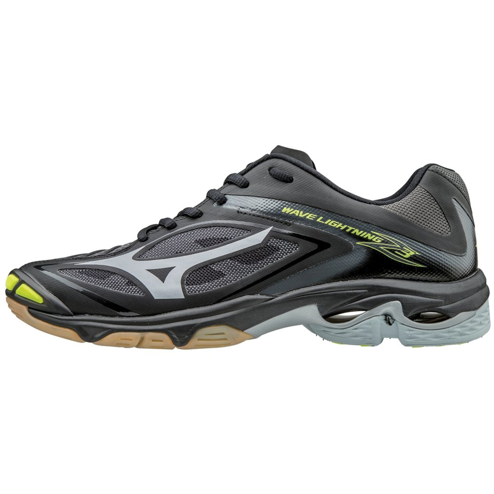 Mizuno Wave Lightning Z3 Women's Volleyball Shoes - Black & Silver (Women's Size 12)