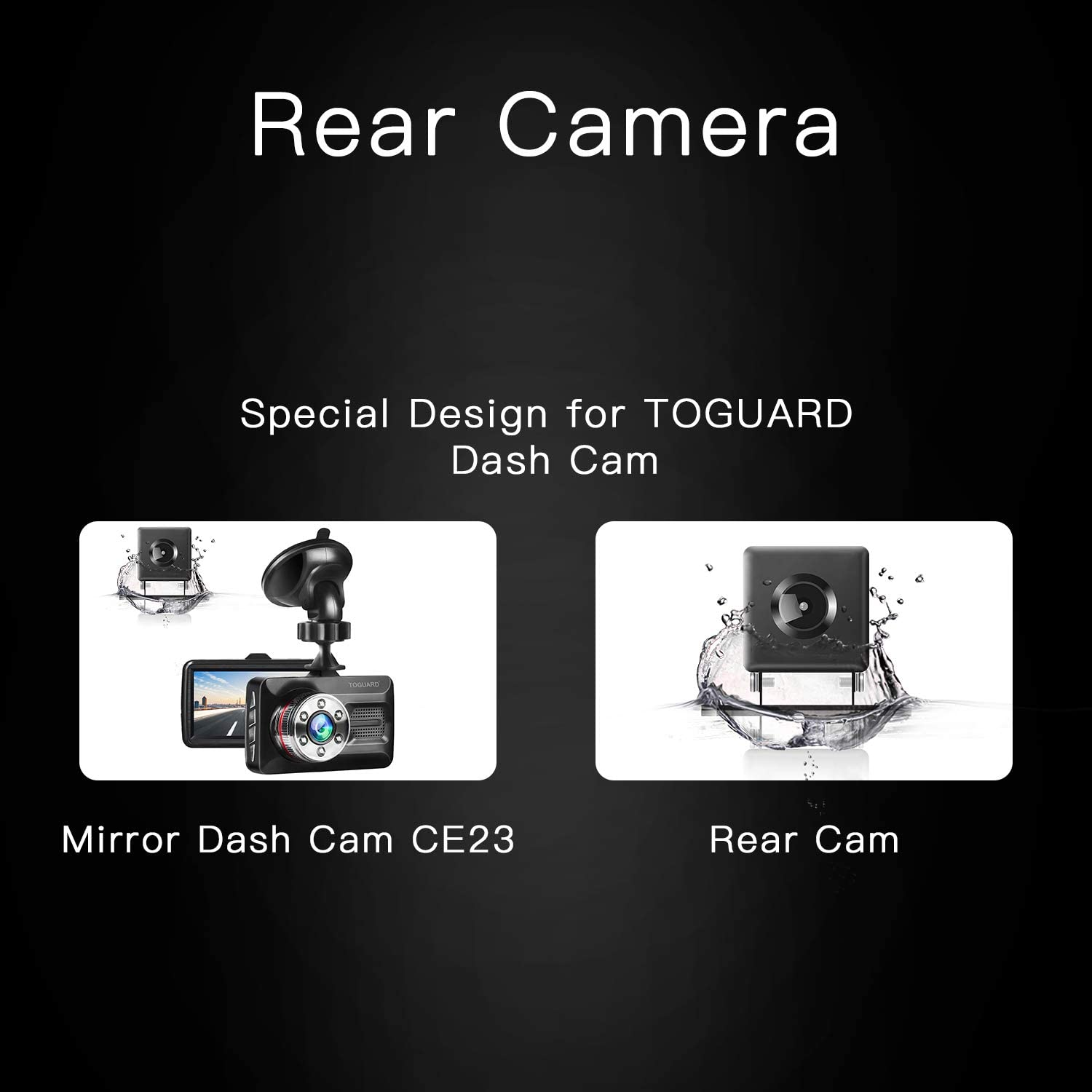 TOGUARD Dual Dash Cam Rear View Backup Camera Reversing Rear Camera CE23B