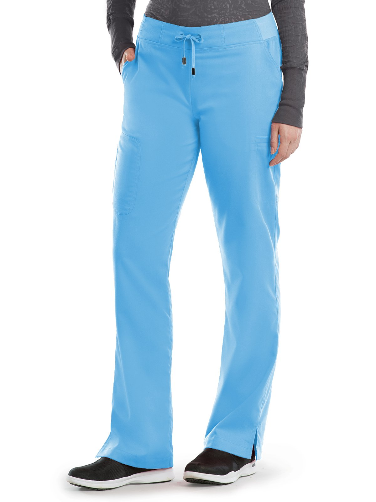 Grey's Anatomy 4277 Straight Leg Pant Ice Berg S Tall