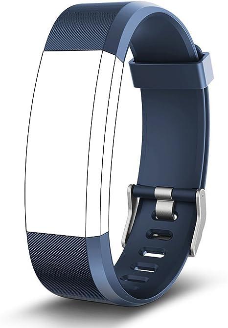 Endubro Ersatzarmband Für Fitness Tracker Id115 Hr Plus Viele Weitere Modelle Aus Hautfreundlichem Tpu Nickelfreiem Verschluss Blau Sport Freizeit