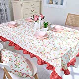 HYLRUS flower pattern cotton tablecloth Picnic cloth Table decoration Holiday decoration Easy to clean Various sizes Christmas tablecloth